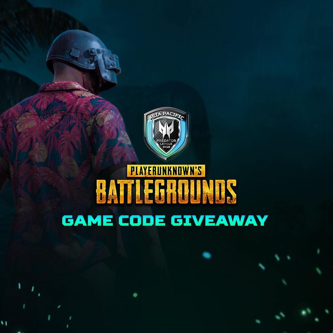 Unbox Giveaway: Ten (10) PlayerUnknown's Battlegrounds Game Codes