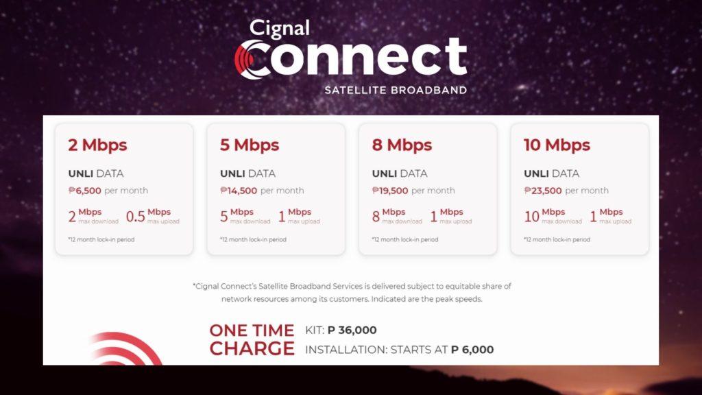 Cignal Connect Satellite Internet