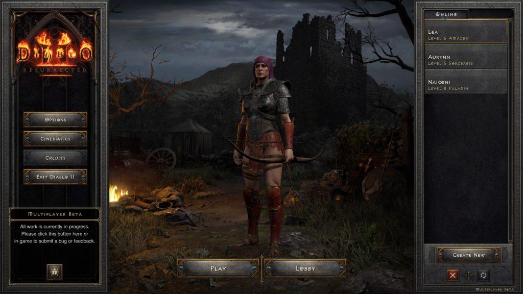 Character Select Screen