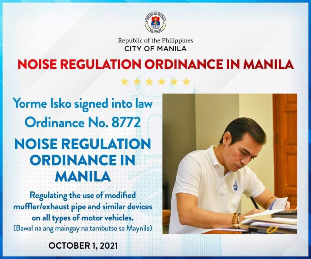 Manila Anti-loud Muffler Ordinance